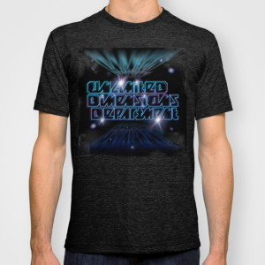 Unlimited Dimensions Department_T-SHIRT_MENS FITTED TEE TRI-BLACK