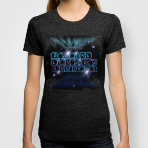 Unlimited Dimensions Department_T-SHIRT_WOMENS FITTED TEE TRI-BLACK